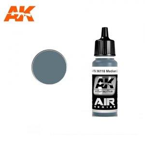 AK Interactive AK 2144 FS 36118 MEDIUM GUNSHIP GREY 17ml