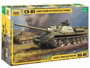 Zvezda 3690 Soviet tank destroyer SU-85 1/35