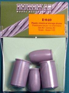 EUREKA XXL E-040 Plastic chemical storage drums Set 2 1:35