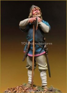 Young Miniatures YH9003 VIKING WARLORD 10 A.D. 90mm