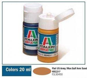 Italeri 4812 FLAT US ARMY/MARINES GULF ARMOR SAND 20ml