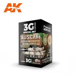 AK Interactive AK 11649 AUSCAM COLORS 3x17ml