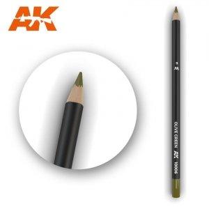 AK Interactive AK 10006 Watercolor Pencil OLIVE GREEN