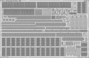 Eduard 53218 USS Saratoga CV-3 pt.3 TRUMPETER 1/350