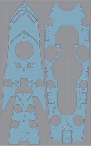 Pontos 35022WD1 French Navy Richelieu Wooden Deck set (1:350)