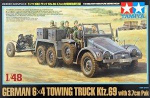 Tamiya 32580 German 6x4 Towing Truck Kfz.69 w/3.7cm Pak (1:48)