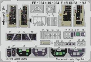 Eduard 491024 F-16I SUFA interior 1/48 HASEGAWA
