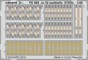 Eduard FE988 Ju 52 seatbelts STEEL 1/48 REVELL
