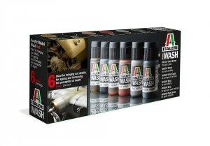 Italeri 448AP ACRYLIC MODEL WASH SET (6 bottles 20ml)