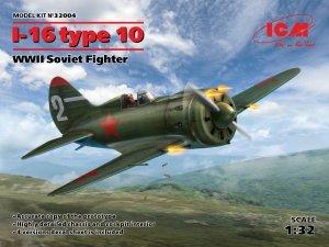 ICM 32004 I-16 type 10, WWII Soviet Fighter 1/32
