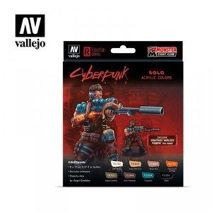 Vallejo 72309 Cyberpunk RED Solo Paint Set 8x17ml