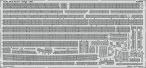 Eduard 53242 DKM Blücher railings TRUMPETER 1/350