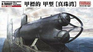 Fine Molds FS2 IJN MIDGET SUBMARINE A-TARGET TYPE A Pearl Harbor 1/72