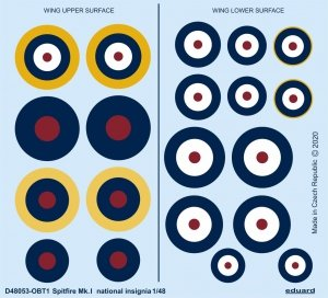 Eduard D48053 Spitfire Mk.I national insignia EDUARD 1/48