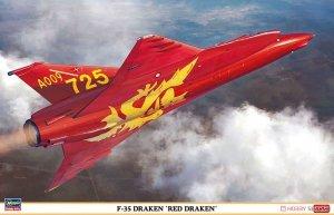 Hasegawa 07495 F-35 Draken Red Draken 1/48