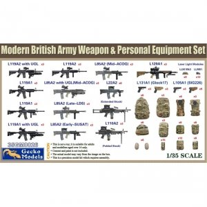 Gecko Models 35GM0026 British Army Weapon & Equipment Set 1/35