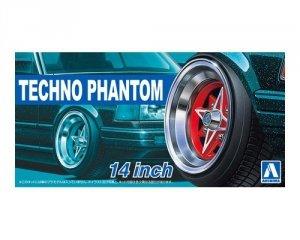 Aoshima 05324 Felgi + Opony Techno - Phantom 14 1/24
