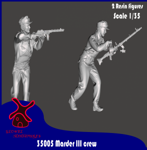 Glowel Miniatures 35005 Marder III crew 1/35