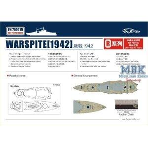 FlyHawk Model FH710019 HMS Warspite 1942 Wooden deck (FH780010) 1/700