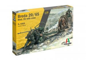 Italeri 6464 Horse Drawn Breda 20 1/35