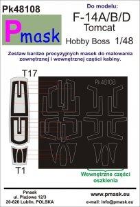 P-Mask PK48108 F-14A/B/D Tomcat Hobby Boss 1:48