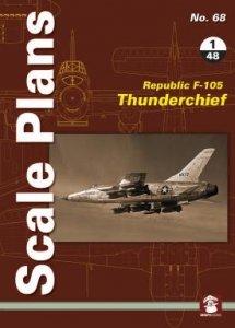Stratus 49197 Scale Plans No. 68 Republic F-105 Thunderchief in 1/48