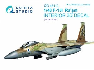 Quinta Studio QD48112 F-15I 3D-Printed & coloured Interior on decal paper (for GWH kit) 1/48