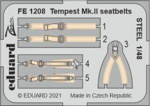 Eduard FE1208 Tempest Mk.II seatbelts STEEL EDUARD 1/48