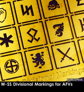 RADO Miniatures RDM35PE09 W-SS Divisional Markings for AFVs 1/35