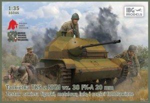 IBG 35046 Tankietka TKS z NKM wz.38 FK-A 20mm (1:35)