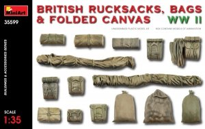 MiniArt 35599 BRITISH RUCKSACKS, BAGS & FOLDED CANVAS WW2 1/35