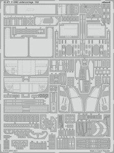 Eduard 32471 F-100C undercarriage TRUMPETER 1/32