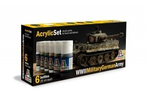 Italeri 433AP Military German Army II World War (6 Acrylic Paints Set)