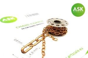 ASK T0250 Chain: Coarse - 50 cm long (brass)