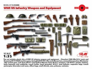 ICM 35688 WWI US Infantry Weapon and Equipment (1:35)