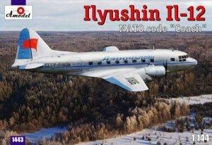 A-Model 01443 Ilyushin Il-12 NATO code Coach 1:144