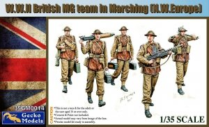 Gecko Models 35GM0014 W.W.II British MG team in marching (N.W. Europe) (1:35)