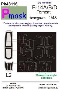 P-Mask PK48116 F-14A/B/D Tomcat Hasegawa 1:48