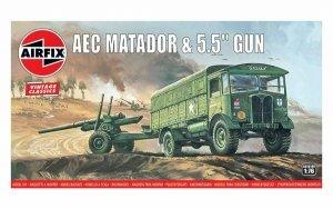 Airfix A01314V Vintage Classics AEC Matador and 5.5 inch Gun 1:76