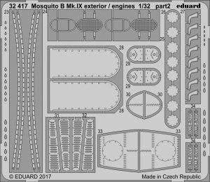 Eduard 32417 Mosquito B Mk. IX exterior / engines HK MODELS 1/32
