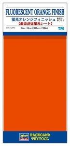 Hasegawa TF06 Finish Detail Sheet Fluor Orange Vapor Deposition (90 x 200mm)