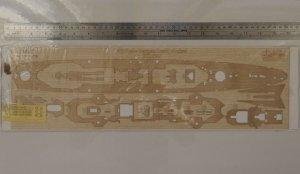 Wood Hunter W35069 German Blucher wooden deck for TRUMPETER 1/350
