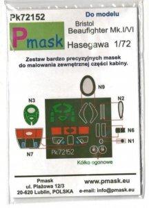 P-Mask PK72152 Bristol Beaufighter Mk.I/VI (Hasegawa) 1/72