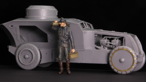 Copper State Models F35-017 Austro-Hungarian Armoured Car Crewman with MG 1/35