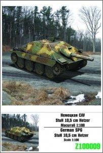 Zebrano 100-009 StuG 10.5 cm Hetzer 1/100