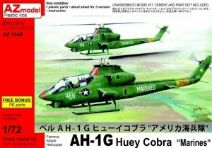 AZmodel AZ7449 Bell AH-1G Early Huey Cobra Marines 1/72