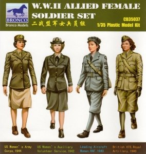 Bronco CB35037 W.W.II Allied Female Soldier Set 1/35