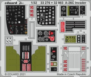 Eduard 33276 A-26C Invader HOBBY BOSS 1/32