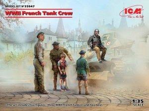 ICM 35647 WWII French Tank Crew (5 figures) 1/35