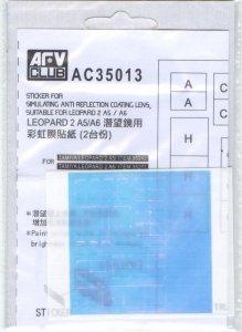 AFV Club AC35013 Leopard 2 A5/A6 Anti-reflection Len Coating (1:35)